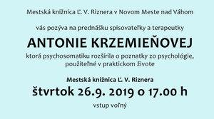 26.9.2019 Stretnutie so spisovateľkou