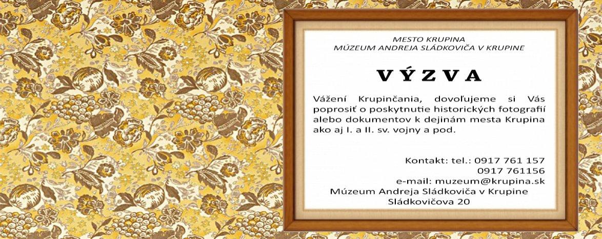 Výzva - múzeum