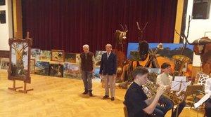 Vernisáž výstavy lovecké trofeje, obrazy a řezby