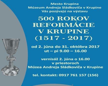 500 rokov reformácie v Krupine