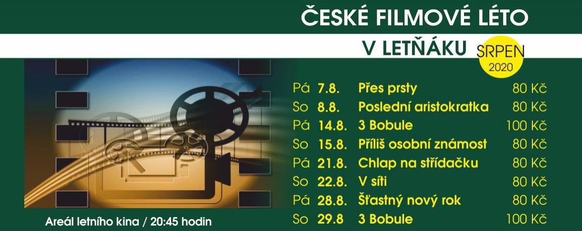 České filmové léto v Letňáku!