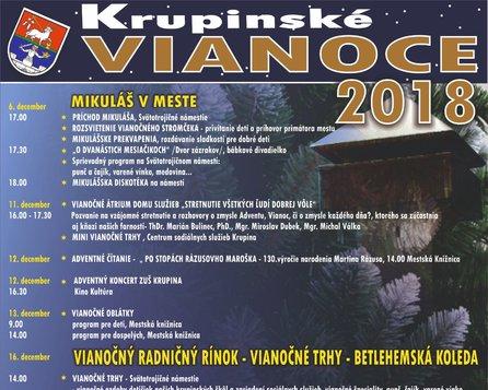 Krupinské VIANOCE 2018