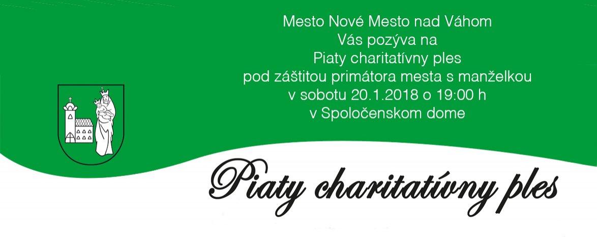 20. 1. 2018 PIATY CHARITATÍVNY PLES