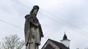 Stone sculpture of St. John of Nepomuk in Kalinčiakovo