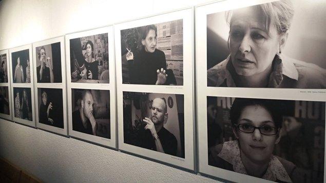 Výstava - fotografie z některých premiérových setkání v Kině 99 z let 2004 - 2011