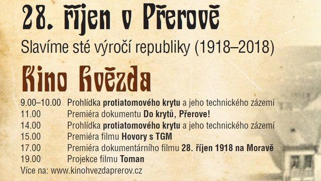 Speciální program k 28. říjnu v kině Hvězda Přerov