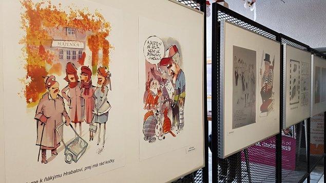 "Od 1. února - Výstava kresleného humoru s tématem ""Bohumil Hrabal a film"""