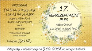 Reprezentační ples města Orlové 2019